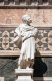 Статуя пророка, портальная на стенке собора Флоренса Стоковые Изображения