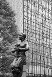 Статуя работника в Шарлотте NC Стоковое Изображение RF