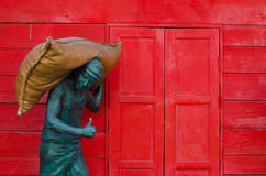 Статуя работника Стоковое Фото