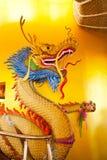 Статуя дракона, атмосфера на chiangmai Thaton виска Стоковое Изображение RF
