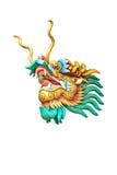 статуя дракона головная изолированная на белой предпосылке Стоковое Изображение RF