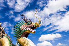 Статуя дракона головная Стоковое Изображение