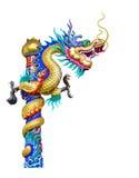 Статуя дракона изолированная на белизне стоковые фото