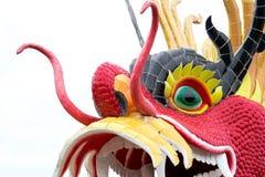 Статуя дракона изолированная на белой предпосылке Стоковое Фото