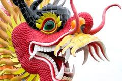 Статуя дракона изолированная на белой предпосылке Стоковая Фотография