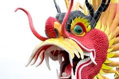 Статуя дракона изолированная на белой предпосылке Стоковая Фотография RF
