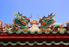 Статуя дракона китайского стиля в виске Стоковое Изображение