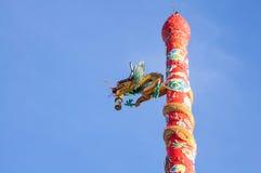 Статуя дракона китайского стиля. Стоковые Фотографии RF