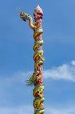 Статуя дракона на поляке Стоковые Изображения RF