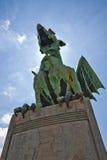 Статуя дракона Стоковая Фотография