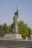 Статуя рассвета около театра кино Стоковые Фото