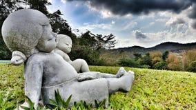 Статуя ребенка Стоковые Изображения