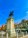Статуя ренессанса Bartolomeo Colleoni одна из самых красивых конноспортивных статуй в мире Стоковое Фото