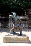 Статуя Робина Гуда, Ноттингем Стоковое Изображение