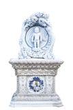 Статуя рождения Buddhas в виске Pariwat стоковое изображение rf