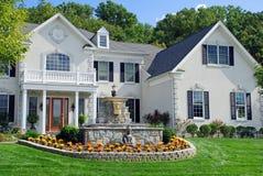 статуя роскоши 7 домов Стоковое Изображение RF