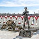 Статуя росомахи Стоковые Фотографии RF
