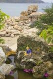 Статуя рыболова стоковое изображение