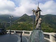 Статуя рыболовов рыб шпаги стоковое изображение rf