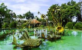 Статуя рыб Стоковые Фото