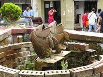 Статуя рыб стоковое фото