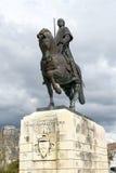 Статуя рыцаря Nuno Alvares Pereira Batalha Португалии Стоковая Фотография RF