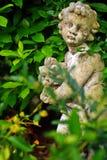 статуя сада flowerpot коровы смешная Стоковая Фотография RF