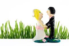 Статуя свадьбы на белизне Стоковое Изображение RF