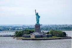 Статуя свободы в заливе Гудзона Стоковая Фотография RF