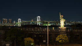 Статуя свободы на заливе Tokiiyskogo портового района, Япония Стоковые Фото