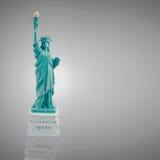 Статуя свободы на темноте - серая предпосылка Стоковая Фотография RF