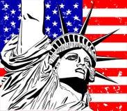 Статуя свободы. иллюстрация штока