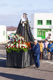 Статуя святой Mary на шествии пасхи в Yaiza, Лансароте Стоковое Изображение RF