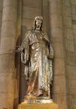 Статуя священной церков сердца внутренняя coeur sacre Иисуса Стоковая Фотография RF