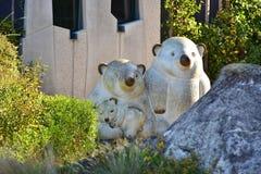 Статуя 3 северных медведей Стоковые Фото