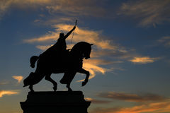 Статуя Сент-Луис в Forest Park стоковые изображения rf