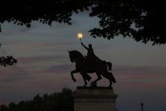 Статуя Сент-Луис в Forest Park стоковое изображение