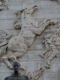 Статуя Симон Боливар и лошади, памятника независимости, Лос Proceres, Каракаса, Венесуэлы стоковые изображения rf