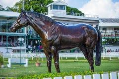Статуя скаковой лошади на саванне гарнизона в Барбадос Стоковые Изображения RF