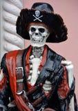 Статуя скелета пирата Стоковые Фотографии RF