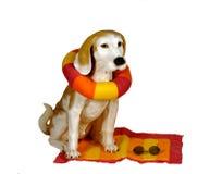 статуя собаки пляжа Стоковая Фотография RF