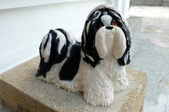 Статуя собаки Shih-Tzu стоковое фото rf