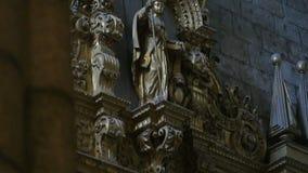 Статуя собора сток-видео
