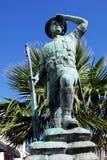 Статуя солдата, Гибралтар стоковая фотография rf