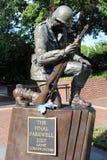 Статуя солдата мемориала Корейской войны Филадельфии стоковые изображения rf