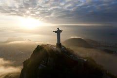 Статуя спасителя Христоса, Corcovado, Рио-де-Жанейро, Стоковая Фотография RF