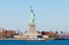 статуя США york вольности города новая стоковые изображения rf