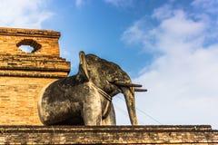 Статуя слона в Чиангмае, Таиланде стоковое фото