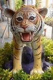 Статуя тигра в саде Стоковое Изображение RF