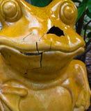 Статуя треснутая лягушкой керамическая Стоковые Фото